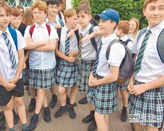 不准穿短裤 男生改穿女裙上学