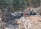 共享单车被丢弃遭焚烧