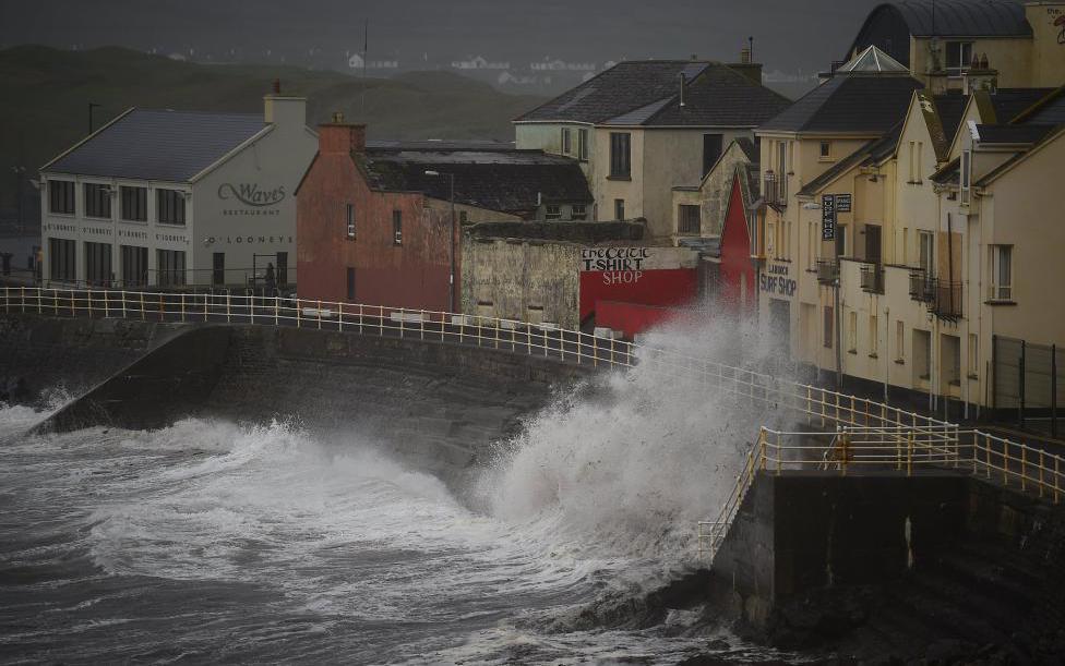 飓风袭击爱尔兰