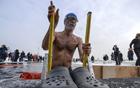 零下十度冬泳挑战