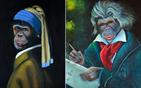 将名画主角改成猴子
