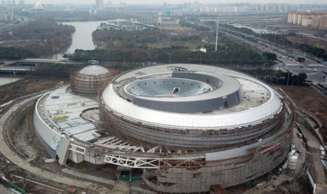 航拍世界最大天文馆 呈现天体结构造型独特.png