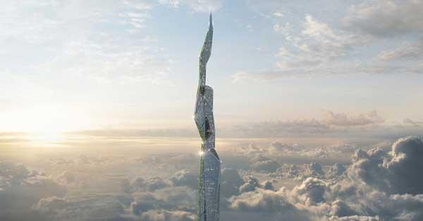 """美公司拟建4800米""""抗霾楼"""""""