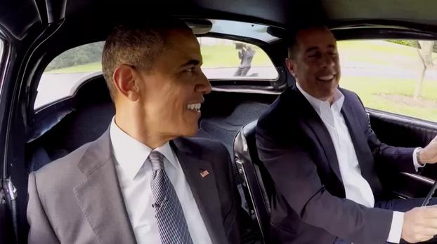 奥巴马现身美搞笑网剧 称只穿相同颜色内衣(图)