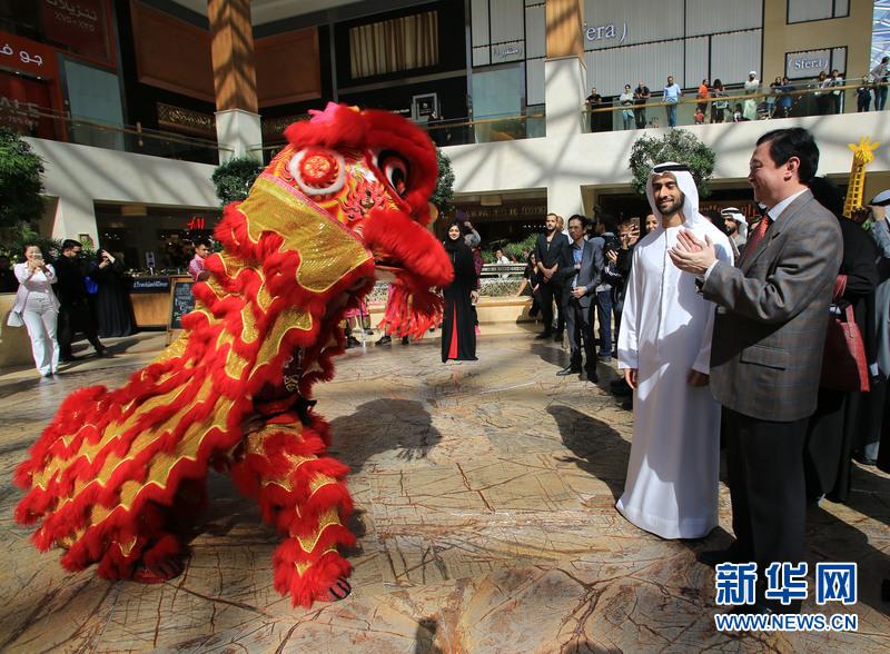 """阿布扎比最大购物中心""""亚斯MALL""""举行迎中国猴年春节庆祝活动"""