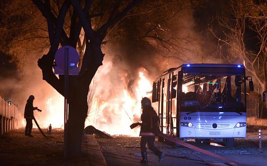 土耳其总参谋部附近发生汽车爆炸 已致28死61伤