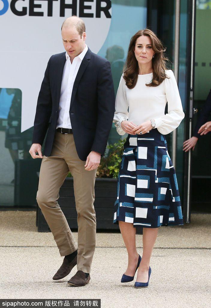 威廉夫妇和哈里王子共同出席活动 凯特王妃优雅亮相