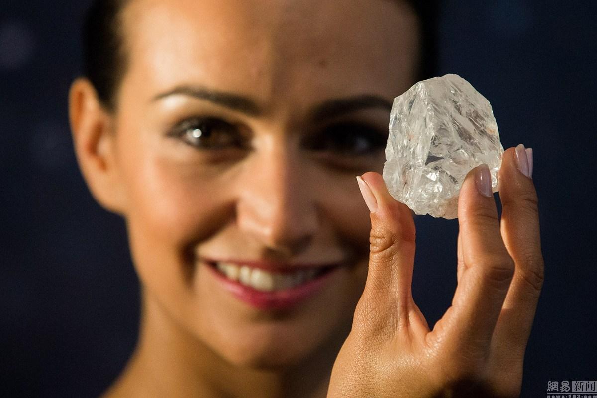 史上第二大钻石将进行拍卖 如网球般大小