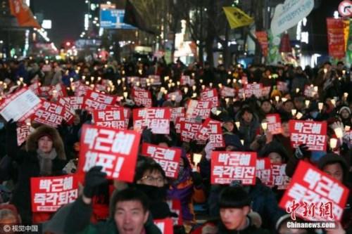 促朴槿惠下台 韩大批民众跨年夜将举行集会游行