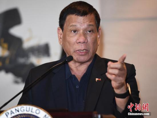 """菲总统杜特尔特:不会在南海部署""""攻击性武器"""""""