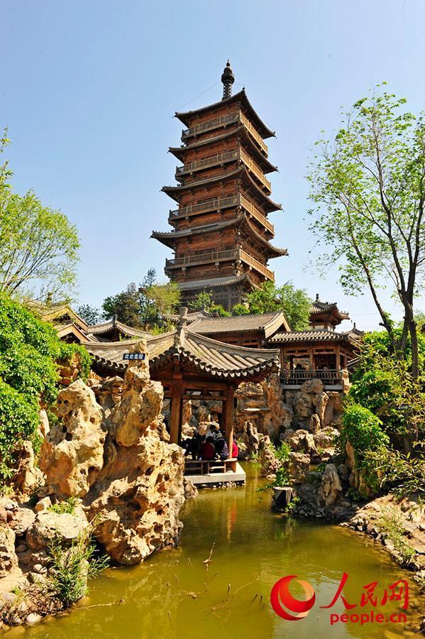 文园,文峰塔下的园中园.