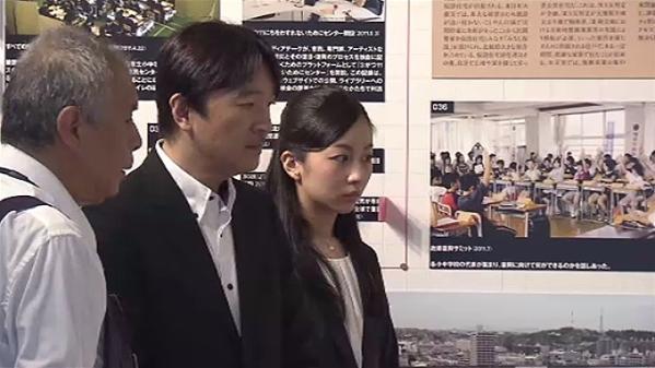 日本皇室秋筱宫亲王与佳子公主视察宫城县