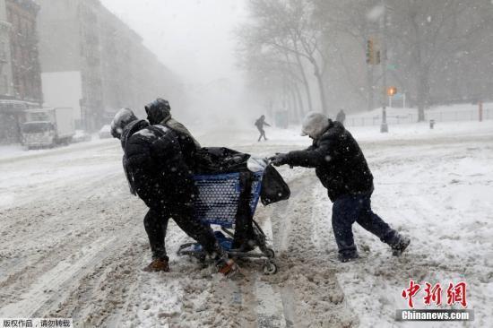 """幸运飞艇冠亚包赢钱:""""炸弹气旋""""再临美国东北部_雨雪天气袭扰数千万人"""