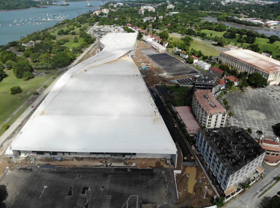 建设中的巴拿马国家会展中心。