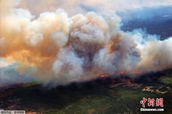 加拿大阿尔伯塔大火 当地数百华侨已撤离