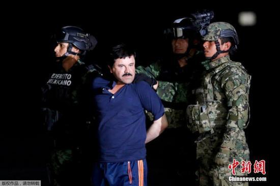 墨西哥头号毒枭转押至墨美边境监狱 曾二度越狱