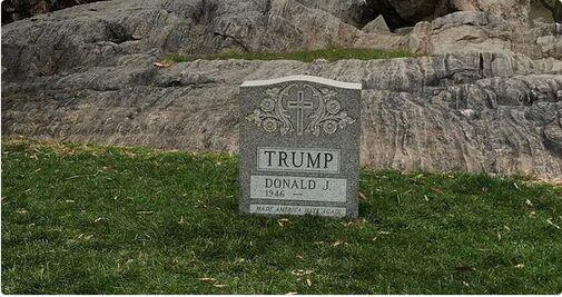 美警方追查纽约特朗普墓碑事件 或为当地艺术家所为