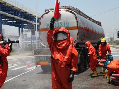 上海化工区举行全景式应急实战演练
