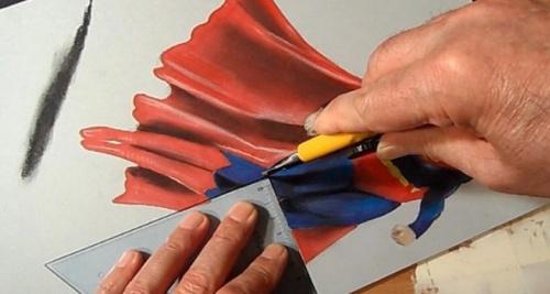 纸上超人凌空飞:艺术家制3D超人 栩栩如生