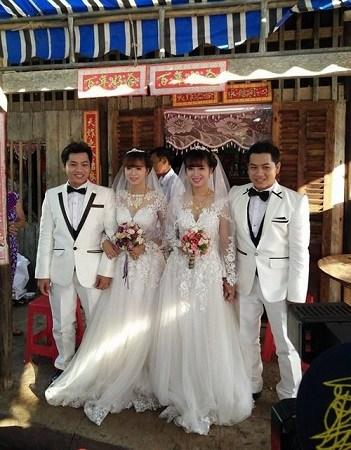 越南双胞胎兄弟娶双胞胎姐妹 称不会认错另一半