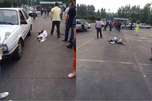 驾校学员紧张致失误 驾车撞伤两学员一教练