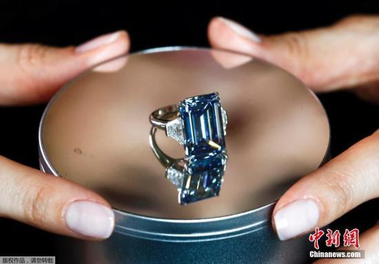 全球最大艳彩蓝钻拍卖创纪录:3.35亿元人民币