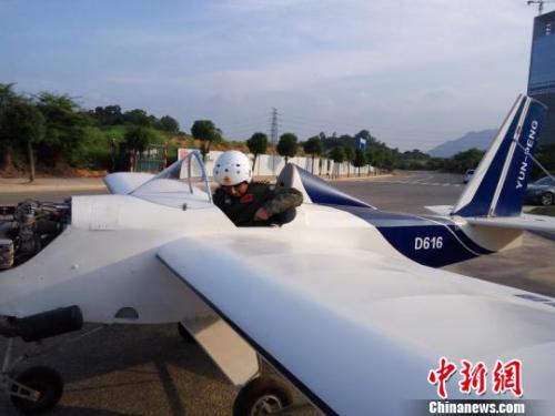 东莞企业家自制超轻型飞机试飞成功