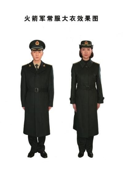 火箭军常服大衣效果图-火箭军今起换发新军服 衬衣为国际经典卡其色图片