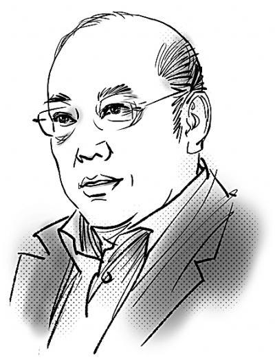 人物素描:郭红松绘