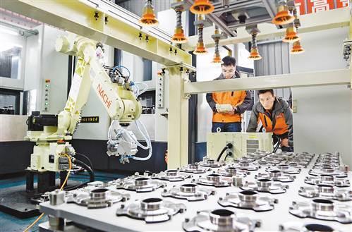 汽车车间工装的定置管理-渝企研发出汽车盘毂无人化生产线 可大幅提