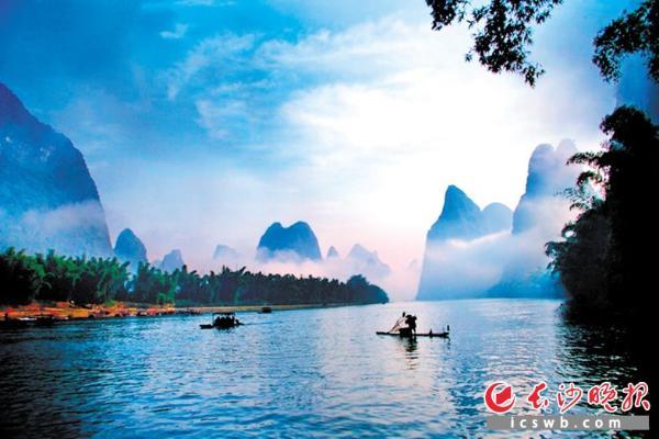 桂林山水 均为资料图片-美景相伴,从长沙快乐出发