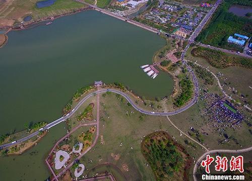 安徽合肥森林·生态旅游节官亭林海景区举行