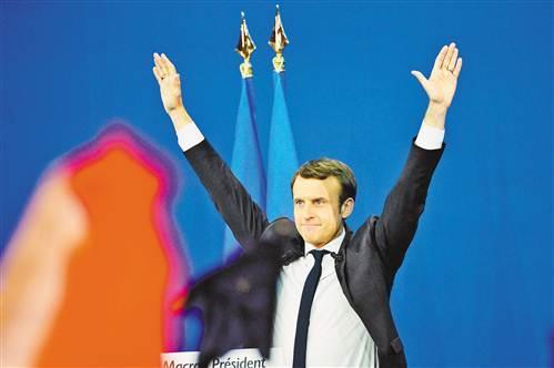 法国民调预测马克龙在总统选举第二轮投票中得