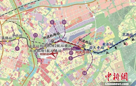 成都地铁 机场跑道图片