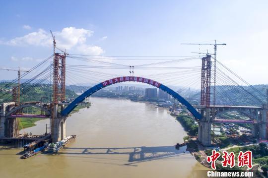 计院设计的世界最大跨度钢箱拱桥——成都至贵阳铁路金沙江公铁两