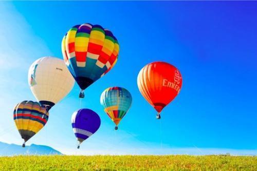 热气球节邀请了30余只色彩鲜艳,形象各异的热气球,数架三角翼,6位