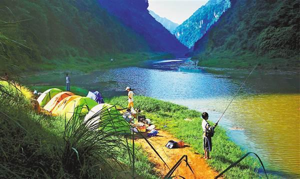 泛舟山水间 骑行探秘洞 露营品湖鲜 在江津清溪沟感受