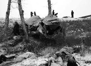 林业大学9学生雪乡途中遇车祸