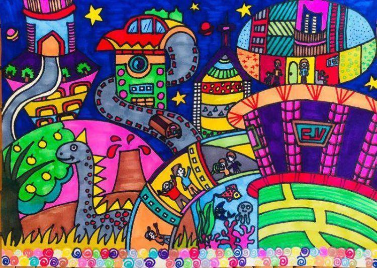 """一幅儿童画,引出爱城市网筑造美好""""新家园""""的蓝图"""