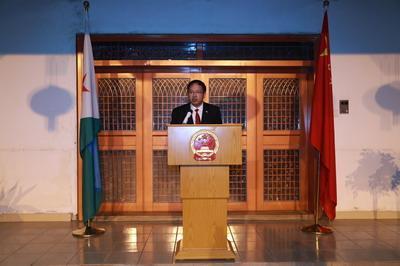 驻吉布提大使卓瑞生举行国庆69周年暨普及版传奇私服服务端到任招待会