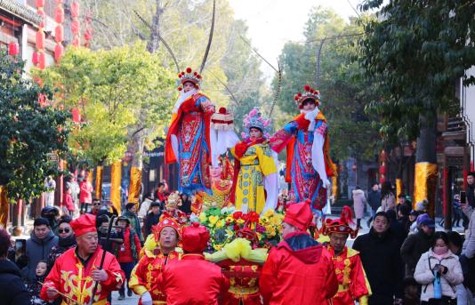 感受中国年味,台儿庄民俗非遗百花齐开迎新年