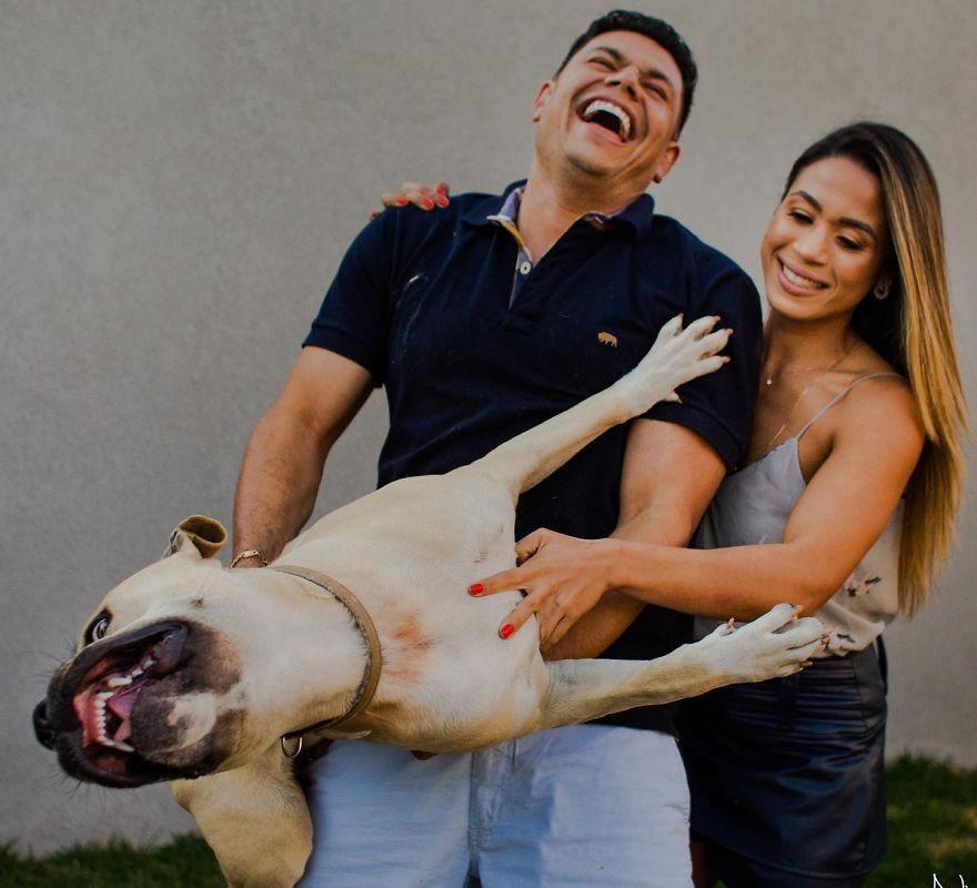 """巴西一对情侣带""""第三者""""拍婚纱照 结局竟然很搞笑"""