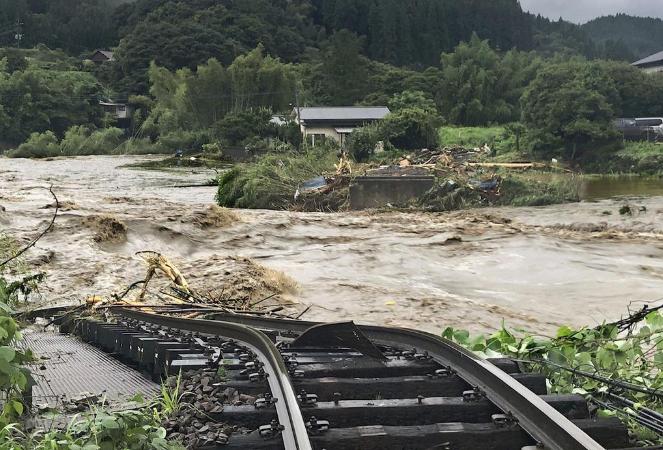 日本九州强降雨已致52人死亡 140万人被要求避难