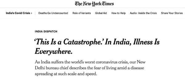 """""""疾病和死亡无处不在""""!记者这样记录失控的印度新冠疫情"""