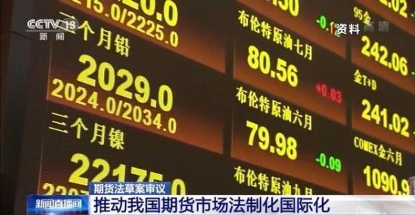 期货法草案要来啦!将推动我国期货市场法制化国际化