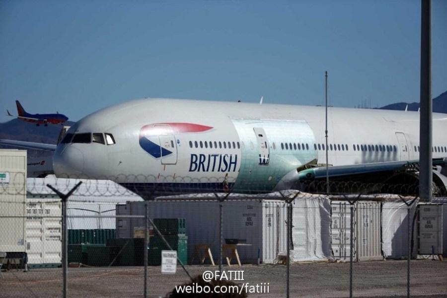 英航起火777修复完毕 机身贴