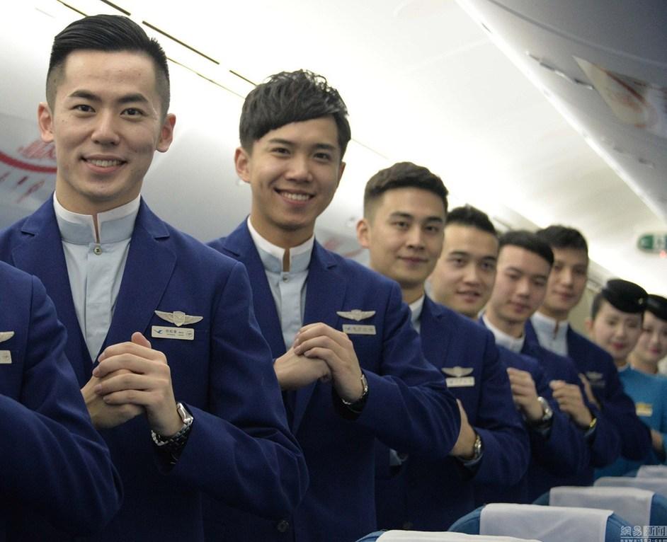 厦门飞往北京的航班上