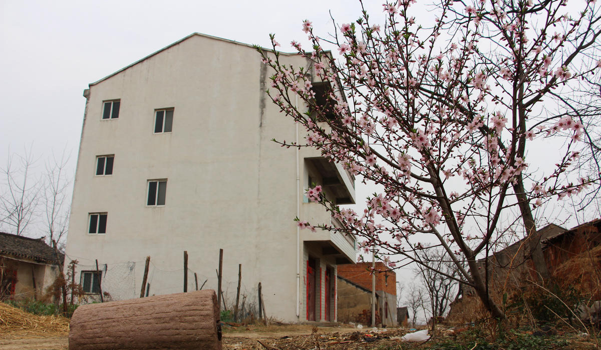 湖北农村大片房屋荒废