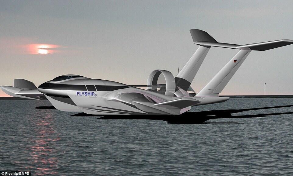 能平行于水面飞行,时速达到155英里