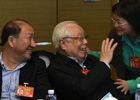 委员们在小组讨论会上